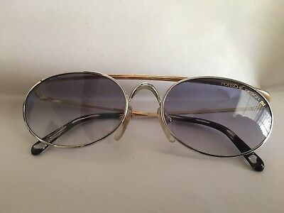 Porsche Carrera Aviator Sunglasses Oval 5681 Vintage 80's With Case Made Italy