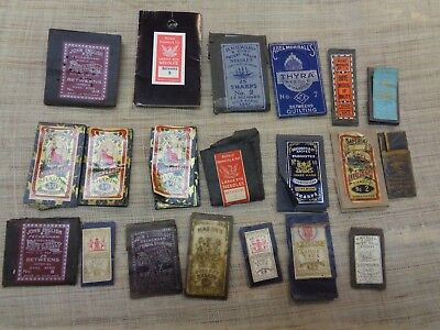 20 Packs Of   Assorted   Vintage And Antique Hand  Sewing & Craft  Needles