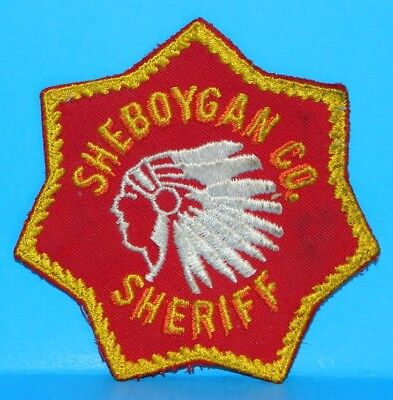 """Wisconsin, SHEBOYGAN CO. SHERIFF Vintage Patch, 4"""" across, used, good cond."""