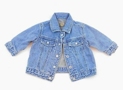 BABY PLACE Light Lined Denim Jacket, Snap Buttons, Size 12M