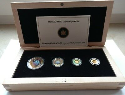 "Kanada 2009 "" 30th Anniversary Maple Leaf Hologram Set "" 999,9 GOLD + CoA + Etui"