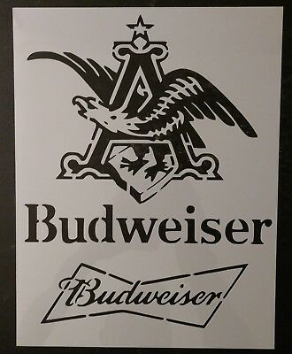 "Bud Budweiser King of Beers Beer 8.5"" x 11"" Custom Stencil FAST FREE SHIPPING"