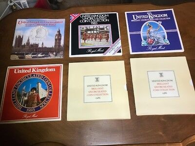 United Kingdom 1982-1986 (Lot of 5) Brilliant Uncirculated Coin Collections