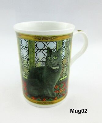 Lesley Anne Ivory Cat Mug Fine Bone China Crown Trent China Ltd England M02