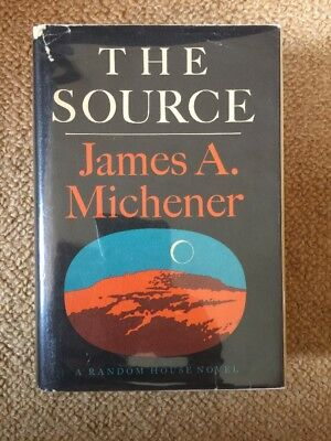 The Source - 1st/1st Edition Printing ~ James Michener 1965 Hardcover HCDJ VG