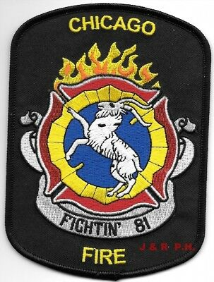 """*NEW*  Chicago  Station - 81, Illinois (4"""" x 5.5"""" size) fire patch"""