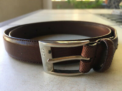 Ralph Lauren Brown Genuine Leather Belt, Size Small
