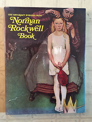 NORMAN ROCKWELL BOOK Saturday Evening Post Hard Cover 1977 1978