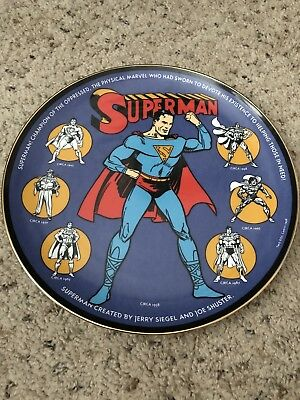 WARNER BROS SUPERMAN THROUGH THE AGES 1998 MINT Collector's Plate