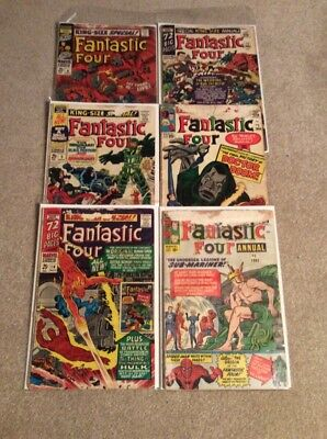 Fantastic Four Annuals 1-6 Silver Age Comic Lot Ist Annihilus Early B.panther