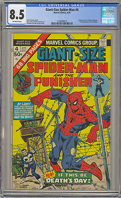 Giant-Size Spider-Man #4 Cgc 8.5 Ow 3Rd Punisher Marvel Comics 1975