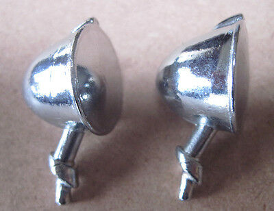 Smith Miller Pair of chromed small stem headlight cast metal  replacements