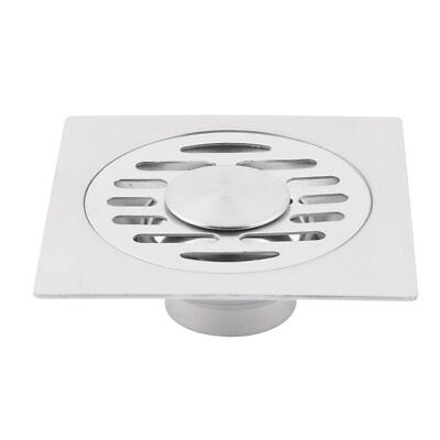 Bathroom Stainless Steel Floor Drain Cover Lid Water Outlet Strainer Silver Tone
