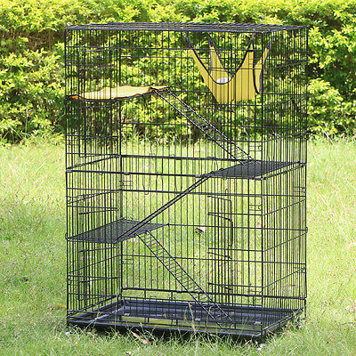 Large Folding Collapsible Pet Cat Wire Cage Indoor Outdoor Playpen Vacation NEW