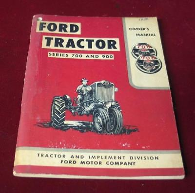 Vintage 1955 Ford Tractor Series 700-900 Tractor Owner's Manual