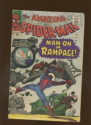 Amazing Spider-Man 32 GD/VG 3.0 *1 Book* Doc Ock! Man on a Rampage by Lee Ditko!