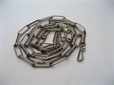 """Lot 86 - Great Old Navajo or Hopi 26 1/2"""" Long Handmade Silver Chain Necklace"""