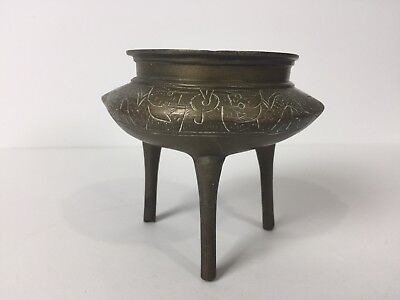 Vintage / Antique Chinese Brass Incense Burner