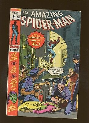 Amazing Spider-Man 96 VG/FN 5.0 *1 Book* Non-Comics Code Drug Issue! Lee & Kane!
