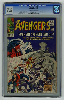 Avengers #14 CGC 7.5 HIGH GRADE Marvel Comic Watcher App VINTAGE Silver Age 12c