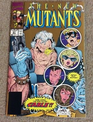 X-men New Mutants #87 Comic Gold Variant 1st Appearance Cable X-Force Liefield