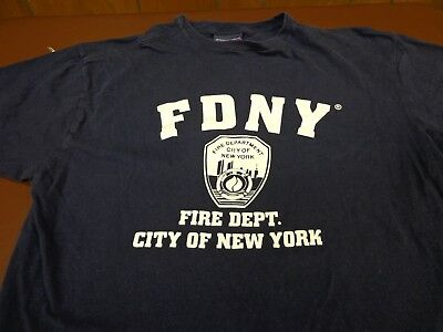 FDNY T-Shirt Navy Blue Officially Licensed  New York City Fire Department XL  R1
