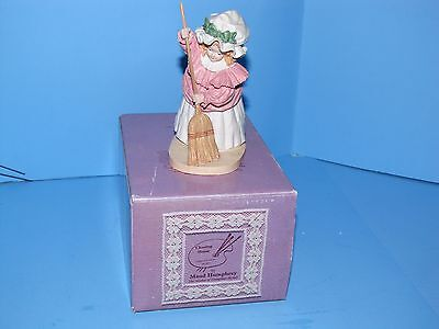 Hamilton Gifts Maud Humphrey Figurine Cleaning House Girl Broom Cert of Auth MIB