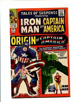 Tales of Suspense #63 VF/NM 9.0 HIGH GRADE Marvel Comic KEY 1st SA Origin Cap