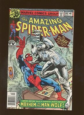 Amazing Spider-Man 190 VF/NM 9.0 *1 Book* In Search of Man-Wolf - Wolfman Byrne!