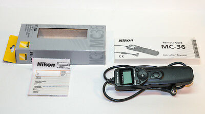 Nikon MC-36 MC36 Remote Cord Intervalometer for Nikon D4, D800, D810, etc.
