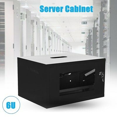 Cabinet Server 6U w/ Fan Socket Network Data Comms Wall Rack Patch Panel Switch