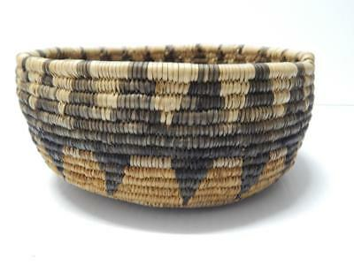 Vintage Seri Indian Southwest Coiled Basket - Polychorme And Early Exaple