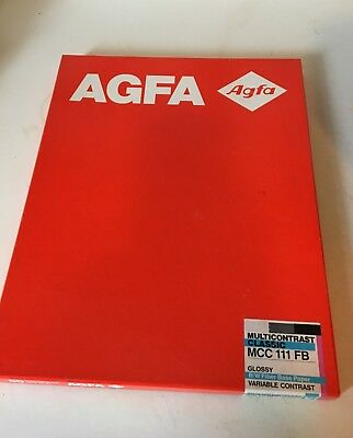 Vintage Sealed AGFA multi-contrast classic MCC 111 FB Grade V 11x14 (50 sheets)