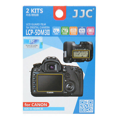 JJC 2x LCD Screen Protector Guard Top & Back for Canon EOS 5D III IV 5DS 5DSR