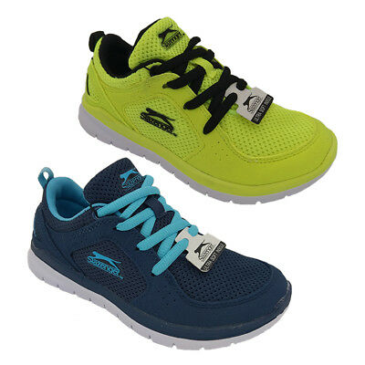 Boys Shoes Slazenger Bolt Trainer Blue or Yellow Lace up Light Size 10-5 New