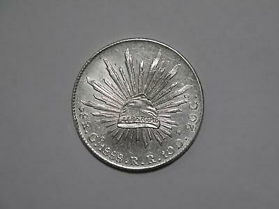 Mexico 1888 Go Rr 8 Reales Cap Rays Silver Type Old World Coin Collection Lot Q