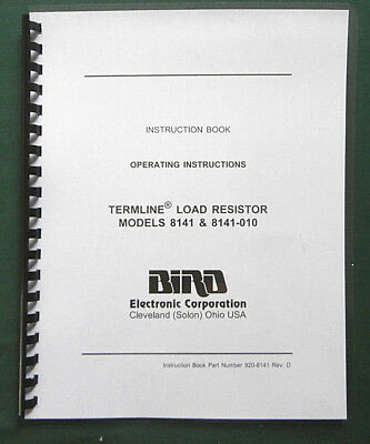 Bird 8135 Instruction Manual Comb bound /& protective covers !
