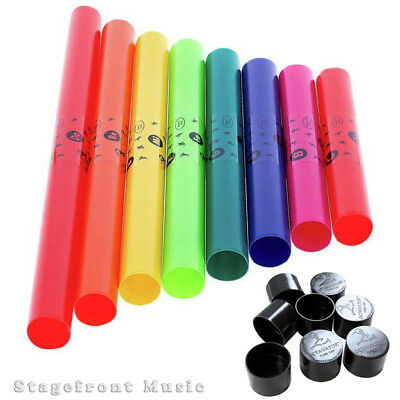 Boomwhackers C Major Diatonic - Set Of 8 Tubes With 8 Octavator Caps *brand New*