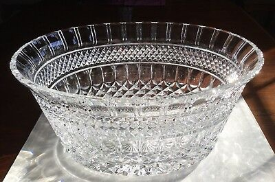 Very Large Heavy  Vintage Crystal Centerpiece Bowl