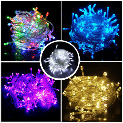 100/250/500 LEDs String Fairy Christmas Lights Xmas Party Wedding Indoor/Outdoor