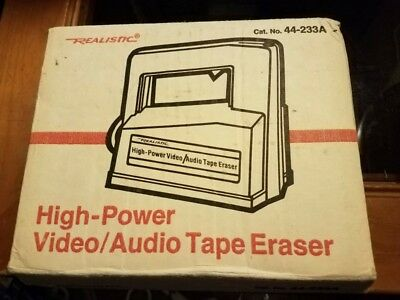 Radio Shack Realistic High-Power Video/Audio Tape Eraser 44-233A Vintage