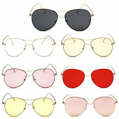 Unisex Vintage Retro Women Men Glasses Aviators Mirror Lens Sunglasses OD