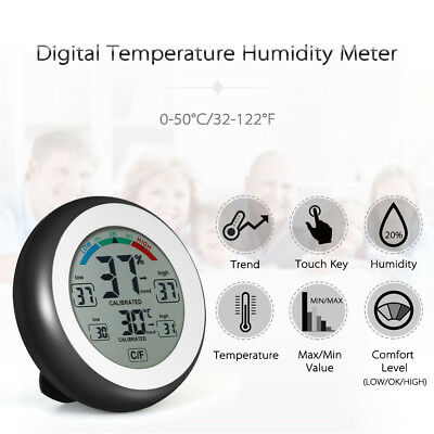 Digital Thermometer Hygrometer Temperature Humidity Record & Trend Forecast