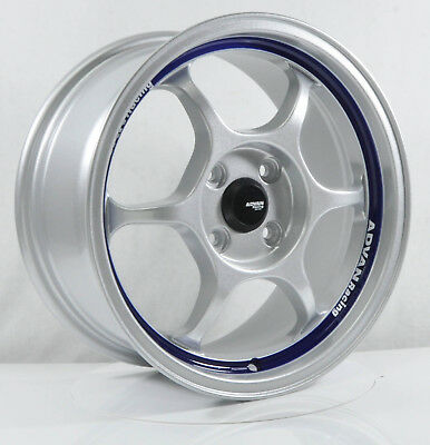 4pcs ADVAN RG1 15 inch Mag Wheels Rim 4X100 Alloy wheel Car Rims S SY5038 -1