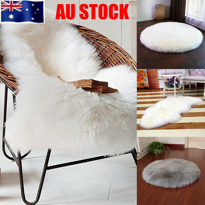 AU Wool Faux Fur Sheepskin Lambskin Carpet Soft Floor Mat Seat Pad Rug Blanket