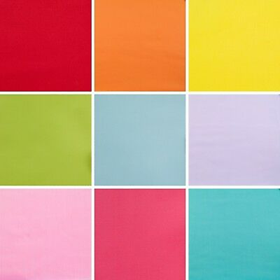 Plain Polycotton Fabric Material Red Orange Yellow Pink Blue Lilac - 1/2 metre
