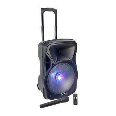 Party Light Sound Moovy12 12î Portable Speaker 600w PA inc Wireless Mic & Stand