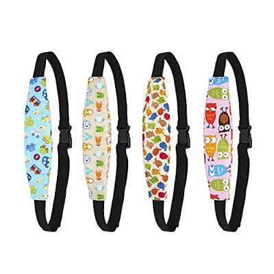 Biubee 4 Pack Infant Baby Head Support Belt Car Seat Neck Relief and Band for
