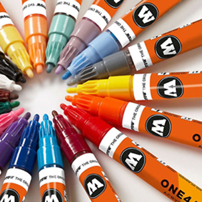 Molotow ONE4ALL Acrylic Paint Markers, 2mm 20 Colors - Choose one color