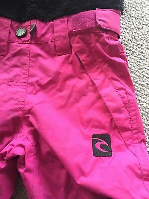 girls salopettes, age two (90cm) in hot pink, Rip Curl brand, soft fleece body,
